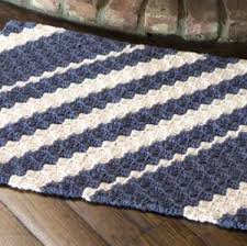 Free Crochet Rug Patterns Extraordinary Nautical Waves Rug FaveCrafts