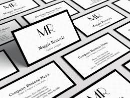 fashion stylish monogram clean white black border business card_240579918513371517v1_800x600 20,000 custom business card templates bizcardstudio co uk on template visit card