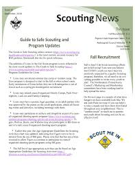 Guide To Safe Scouting Chart September 2018 Council Newsletter Pages 1 14 Text