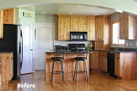 Kitchen Cabinets Painted White Before And After Exquisite Delightful
