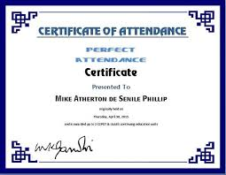 Free Perfect Attendance Certificate Template Gorgeous Perfect