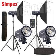 Simpex Pro 300d With Softbox Studio Light Octova Simpex Se 400 Studio Flash Strobe Light Kit 400w Including 2 Lights 2 Soft Box 60 X 60 2 Light Stands 1 Remote Controller Trigger And