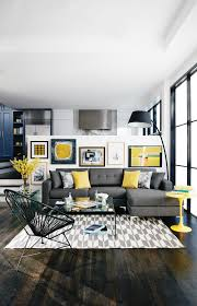 gray and yellow furniture. Living Room:Dark Gray Accent Wall Room And With Charming Images Pops Of Yellow Furniture
