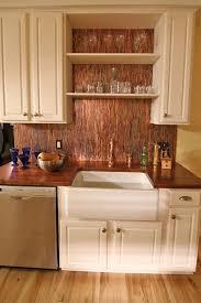 Stunning Copper Backsplash For Modern Kitchens Kitchen Kitschy Impressive Wood Stove Backsplash Exterior