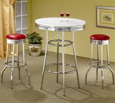 soda fountain in retro chrome 3 piece counter height bar table set with regard to counter height bar table decorating