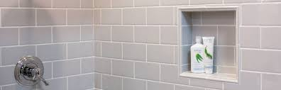 tile recessed niches
