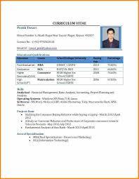 Best Cv Format For Freshers Mca Resume Format For Freshers Resume