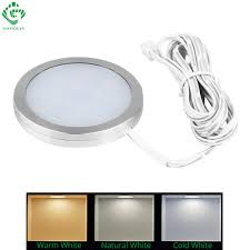 Led Under Cabinet Lights 12v Round Counter Puck Cupboard Wardrobe