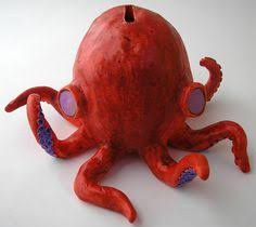 Double Pinch Pot Octobank  Use Cork To Plug The Hole In Bottom