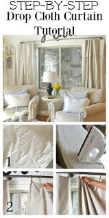 step by step drop cloth curtain tutorial easy to follow tutorial that shows you exactly