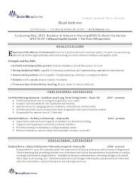 New Grad Nursing Resume Clinical Experience Nurse Graduate With ...