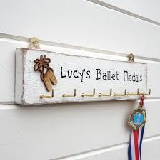 personalised ballet medal holder hanger