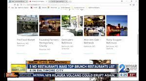 Maryland Restaurants Make Opentables Top 100 Brunch Restaurants