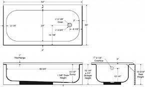 standard bathtub dimensions tub bathroom