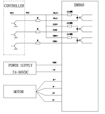 dm860 two phase hybrid stepping motor driver motor control system should contain stepper drives dc power supply and controller pulse source the following is a typical system wiring diagram