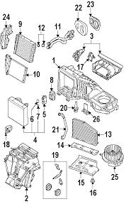 com acirc reg volkswagen r evaporator heater components oem parts 2008 volkswagen r32 base v6 3 2 liter gas evaporator heater components