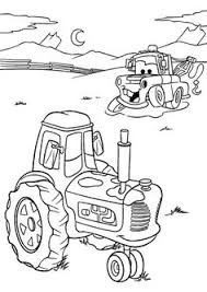 Small Picture cars coloring page Mater And Tractor Tipping Coloring Pages To