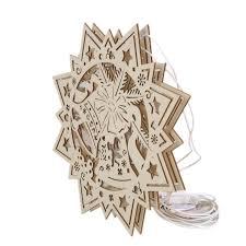 Weihnachtsstern Aus Holz Als Fensterdeko Günstig Online Kaufen