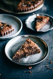 Nutella Topped Brownies Nutella Brownie Tart Topped With Coffee Salt Recipe By Artful