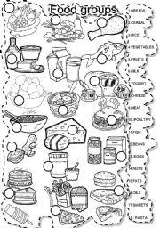 Small Picture English teaching worksheets Food groups