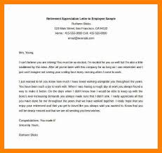 retirement letter to employer retirement appreciation letter to employee sample free