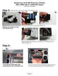 rns 510 vw t iguan installation guide page 1 2