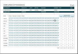 Employee Absent Employee Absence Schedule Template Excel Formal Word Templates
