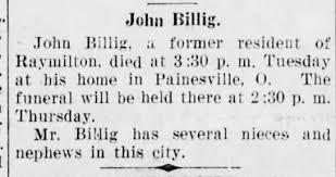John Allen Billig - obituary - Newspapers.com