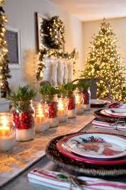 Glass Jar Table Decorations Mason Jar Christmas Decorating Ideas Clean And Scentsible 24
