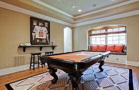 sporty themed designing ideas with framed jerseys simple way to decorate playroom with fancy billiard