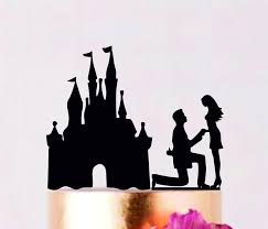 Proposing At The Castle Wedding Cake Topper Custom Wedding Etsy
