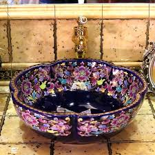 aliexpresscom ceramic art basin sinks europe vintage style counter top wash bathroom vessel vanities sink