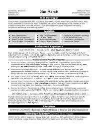 Web Developer Resume Sample Monster Com Template Jobsearch Webdeve