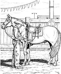 Cowboy Coloring Pages With His Horse Coloringstar