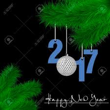 Golf Ball Decorations Happy New Year And Numbers 100 And Golf Ball As A Christmas 79