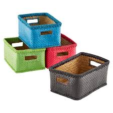 small storage bins. Wonderful Storage Small Palm Leaf Bins  With Storage