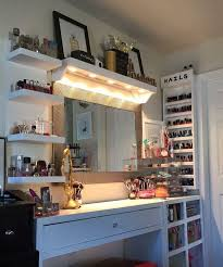 best lighting for makeup vanity. vanity and makeup storage ideas i like the lights shining down best lighting for