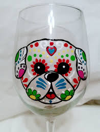 Sugar Skull Bathroom Decor Sugar Skull Pug Etsy