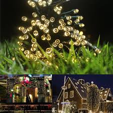 100 White Outdoor Led Solar Fairy Lights Pinterest