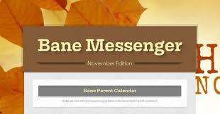 Bane Messenger Smore Newsletters For Education