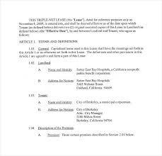 Triple Net Lease Form Free Download Template – Poquet