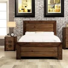 rustic bedroom furniture. Furniture Of America Kailee Rustic 2-piece Natural Tone Bed And Nightstand Set Bedroom