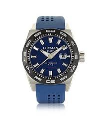locman watches for men forzieri uk stealth 300 mt analog display automatic self wind blue stainless steel titanium and silicone men s