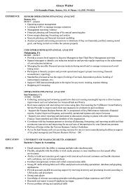 Operations Financial Analyst Resume Samples Velvet Jobs