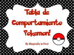 Pokemon Go Inspired Behavior Chart Spanish