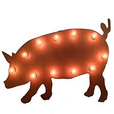 lighted pig sign on metal pig wall art with universal iron lighted pig sign mlpig