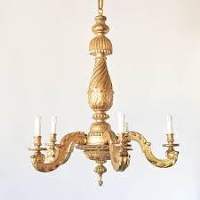 gilded wood chandelier