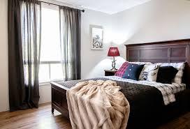 masculine lodge inspired bedroom makeover