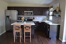 dark cabinets kitchen. Kitchen Reveal Dark Cabinets Light Counters, Countertops, Home Improvement, Backsplash, A
