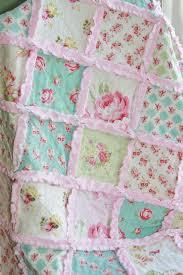 Chic Rag Quilt Baby Girl Rag Quilt Pink Blue Green Nursery | Quilt ... & Shabby Chic Rag Quilt Baby Girl Rag Quilt Pink Blue by justluved, Tanya  Whelan quilt Adamdwight.com